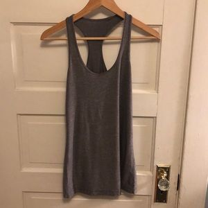 Heathered grey lululemon CRB tank
